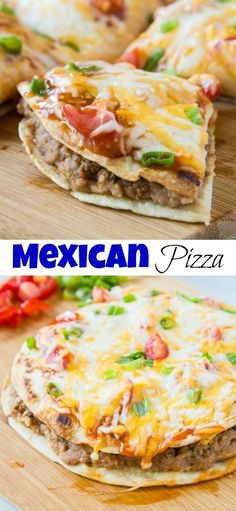 Mexican Pizza - a homemade version of the famous Taco Bell Mexican Pizza, only better! Super easy and a fun dinner the whole family will love. # easy dinner recipes mexican Mexican Pizza Recipe (Taco Bell Copycat) - Dinners, Dishes, and Desserts Taco Bell Copycat, Taco Bells, Pizza Taco, Taco Bell Quesadilla, Pizza Food, Taco Bar, Pizza Hut, Comida Latina, Recipes