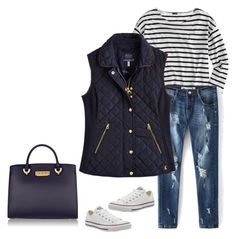 """Untitled #275"" by javall-bridges ❤ liked on Polyvore featuring J.Crew, Joules, Converse and ZAC Zac Posen"