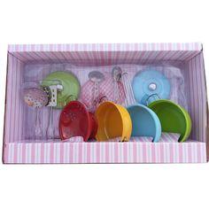 ערכת כלי מטבח עשויה מתכת- למשחק ילדים