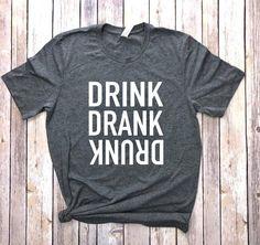 Funny Shirts For Men, Funny Tee Shirts, Shirts With Sayings, Mom Shirts, Cute Shirts, Funny Drinking Shirts, Teacher Shirts, Diy Shirt, Custom T