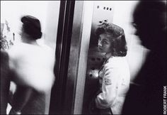 Robert Frank --  Elevator, Miami Beach