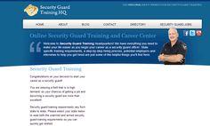 Ganar dinero con un blog: securityguardtraininghq.com