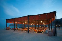 Beach lounge at Six Senses Zighy Bay, Oman | Condé Nast Traveller's favourite hotels in the world