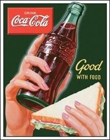 Coca Cola Coke Nostalgic Good w Food Vintage Style Tin Sign Made in USA New   eBay