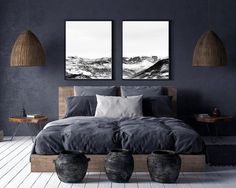 *Cloudy mountain wall decor Lake wall art Sunrise painting Mountain print Sunset canvas art Landscape print Relax Extra Large Wall Art* canvas wall art arrives ready to hang and no additional framing required. Men's Bedroom Design, Home Music, Minimalist Decor, Minimalist Scandinavian, Modern Minimalist Bedroom, Bedroom Wall, Male Bedroom Decor, Modern Bedroom, Bedroom Ideas For Men Modern