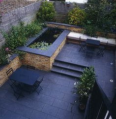 Amazing DIY Slate Patio Design And Ideas ideas slate Amazing DIY Slate Patio Design And Ideas - Onechitecture Small Backyard Ponds, Backyard Patio Designs, Backyard Landscaping, Patio Ideas, Pond Ideas, Landscaping Ideas, Patio Pond, Garden Ideas, Garden Ponds