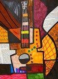 Artsonia Art Exhibit :: Picasso Guitar 3rd grade