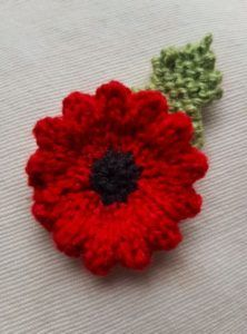 Handmade Knitted Poppy Wavy Completed Fitting in Knitting Children Craft Ideas – My Unique Wardrobe Free Knitted Flower Patterns, Knitted Poppy Free Pattern, Tea Cosy Knitting Pattern, Easy Knitting Patterns, Free Knitting, Knitting Stitches, Knitting For Charity, Knitting Ideas, Knitting Projects