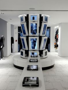 My.Suit: Digital Pod and Bench #retail #interiordesign #displays #ipod