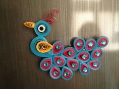 Pretty quilled peacock