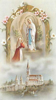 """OLD nice rare Holy cards """"H9106"""" holy madonna di lourdes FOR SALE • CAD $4.93 • See Photos! Money Back Guarantee. """"H9106"""" today i offered you old HOLY card , it is from the company as Printed in italy. Super Scarce card to find. Holy Card was printed on high quality 272660485393"""
