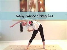 Daily Dance Stretches: Improving flexibility | DancingFashion - YouTube
