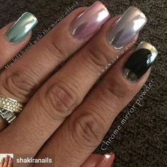 By #shakiranails frm #instagram   #chromenails #chromemani  #nailsofinstagram  #chrome #nails  #chromefinish #chromenaildesign  #nails #gelnails #gelpowder #gelchromepowder #mirrornails #mirroreffect #nailartmirror #naildesigns #nails #prettynails #prettynailart  #fashion #nailtrend #trendy  #fashionhairbeauty #fashionista #nailsonpoint #nailtrends #newnailart #newchromenails