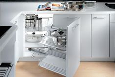 Kitchen corner cabinet - You have a small kitchen? One creative solution of storage for small kitchen is kitchen corner cabinet. Kitchen Cabinets Home Depot, Corner Sink Kitchen, Kitchen Cabinet Drawers, Small Kitchen Storage, Modern Kitchen Cabinets, Kitchen Units, Storage Cabinets, Kitchen Organization, Kitchen Furniture