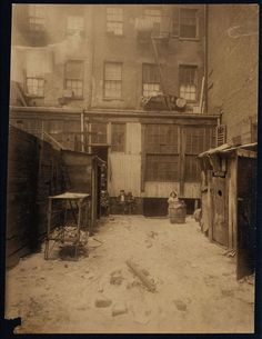 Rear View of Tenement  Artist:Lewis Hine,1912    http://www.museumsyndicate.com