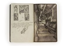 luke pearson bartlett school of architecture sketchbook Amazing technical drawing, captivating layout