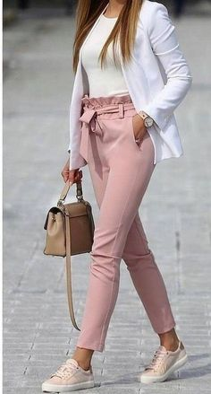 Cute teen girls spring outfits 02 ~ Dresses for Women - Work Outfits Women Casual Friday Outfit, Friday Outfit For Work, Casual Work Outfits, Mode Outfits, Work Casual, Stylish Outfits, Fashion Outfits, Casual Fridays, Semi Casual Outfit Women