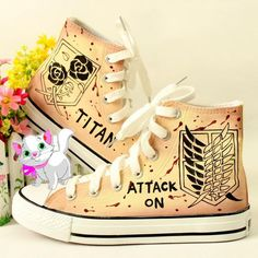 Harajuku anime two yuan attack the giant graffiti hand-painted shoes Anime Inspired Outfits, Anime Outfits, Cool Outfits, Kawaii Shoes, Aesthetic Shoes, Hand Painted Shoes, Anime Merchandise, Dream Shoes, Custom Shoes