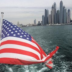 #Repost @srblaine  only #merican flag flying out of the #dubai #marina today #typical #travel #wanderlust #pinchme