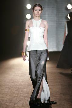 #SIMONGAO SS 2014 COLLECTION #designer #dark #top #fashion #vogue #trend #design #chic avant-garde #brand #black #silk #show #wear #beauty #gold #accesory #art #culture #elf #cosmos #energy #zen #tech #mystery #spiffy #white #gradient #oriental #earrings #cutting #lines #dress #grey