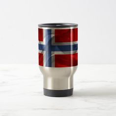 Shop Norwegian waving flag travel mug created by Personalize it with photos & text or purchase as is! Norway Flag, National Flag, Candy Jars, Gifts For Dad, Travel Mug, Flags, Cool Designs, Pattern, Dad Gifts