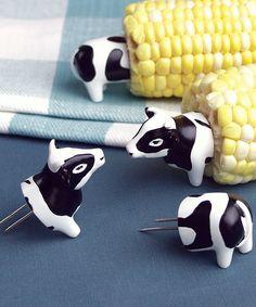 Cow Corn Holder - Set of Eight