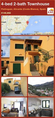 4-bed 2-bath Townhouse in Pedreguer, Alicante (Costa Blanca), Spain ►€149,950 #PropertyForSaleInSpain