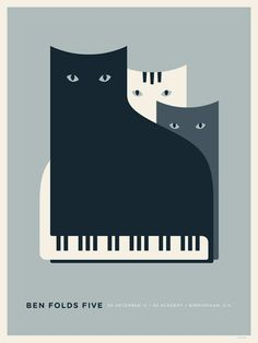 Ben Folds Five concert poster by Jason Munn