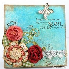 Paper canvas art with soulful quote - scrapbooking tutorial