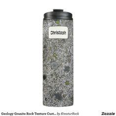 Geology Granite Rock Texture Custom Name Thermal Tumbler