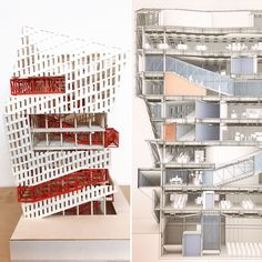 """Currently on display on the Watt Hall 2nd floor are the award-winning Fall '16 5th year comprehensive studio projects. Featured projects (swipe L to view all): Philip Wang's """"Coreless Creative Space"""" (Best Overall Project); Kylie Wong's """"Dance And Music Conservatory"""" (Best Drawing); and Chris Behling's """"Test Track: Center for Autonomous Research"""" (Best Model). #usarchitecture #uscbarch #studentwork #exhibit"""