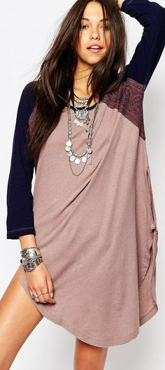 Free People Road Trip Tunic With Back Crochet Detail