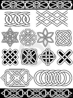 Vector Celtic Knots Royalty Free Stock Images - Image: 16053679
