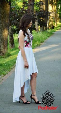 Sukienka góralska - Asymetria 2 - Sukienki - Ona - Podhaler - odzież góralska, folk, haft, parzenica