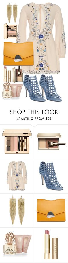 """""""romantic day"""" by francymayoli ❤ liked on Polyvore featuring Clarins, Jimmy Choo, Kenneth Jay Lane, Proenza Schouler, Vince Camuto and Stila"""
