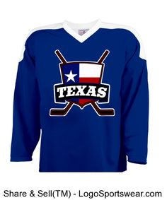 Texas Ice Hockey Jersey with Flag - Customize your own hockey   lacrosse  jerseys Custom Shirts   Apparel 0711732e5