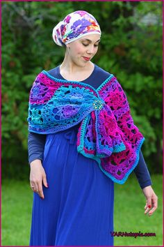 My Jewel-Tone Lotus Wrap is the latest piece hot off my hook! Using Red Heart Yarns Super Saver Stripes in Polo Stripe, I was able to create this rich and vibrant shawl, perfect for staving off the…