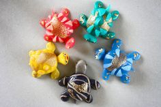 Handmade polymer clay Translucent turtle ornament by Onlymiracles, €8.00