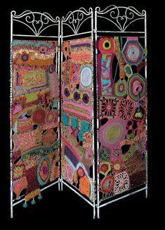 Screens crochet handmade Raumtrenner Daniela Cerri