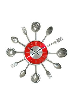 Love this utensil clock for my kitchen re-do!