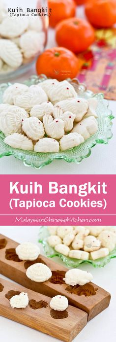 Light, airy, and fragrant Kuih Bangkit (Tapioca Cookies) are a Chinese New Year favorite in Malaysia and Singapore. Uses only 5 ingredients with detailed video instructions. Chinese New Year Cookies, Chinese New Year Food, New Years Cookies, Malaysian Dessert, Malaysian Food, Malaysian Recipes, New Year's Desserts, Asian Desserts, Chinese Desserts