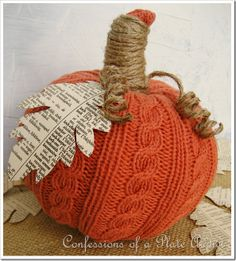 Sweater pumpkin with