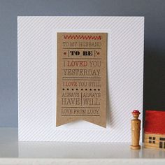 Personalised Wedding 'Husband Or Wife To Be' Card