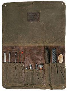 Shop Meehan - Utility Bag & Bar Rollup - Waxwear Rangertan | Moore and Giles Inc.