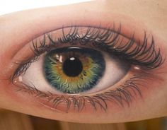 Read Complete Realistic Eye Tattoo On Bicep by Amayra