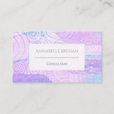 Modern Abstract Pastel Pattern Business Card Company Business Cards, Pastel Pattern, Keep It Cleaner, Holiday Cards, Joy, Abstract, Frame, Modern, Christian Christmas Cards