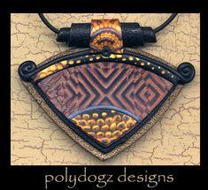Gorgeous polymer clay necklace by Susan Waddington of Polydogz Designs.