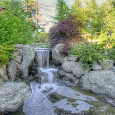 Natural Landscaping Ideas | ... water, soothing landscape ideas, landscape color, outdoor lighting