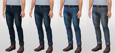 Maxis-match denim jeans. Now that's something you don't see every day, do you? Skinny, rolled, lowrise jeans for your sim men. These jeans go perfectly with my Layered Larry shirt paired with...