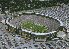 Green Bay Wisconsin! It's where I want to see my first LIVE NFL game. Home of the Packers!!